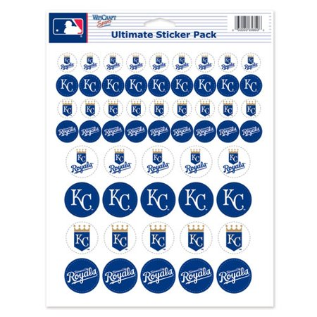 WinCraft Kansas City Royals 8.5'' x 11'' Sticker Sheet - No - Kansas City Royals Stickers