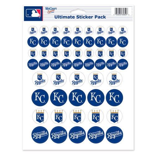 WinCraft Kansas City Royals 8.5'' x 11'' Sticker Sheet - No Size