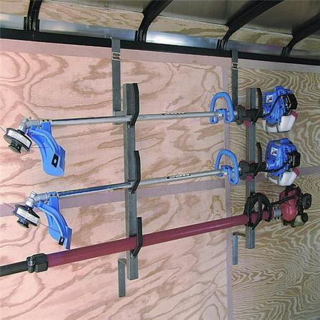 Rack Em RA-5 3 Trimmer Rack for Enclosed Trailers Trailer Hay Rack