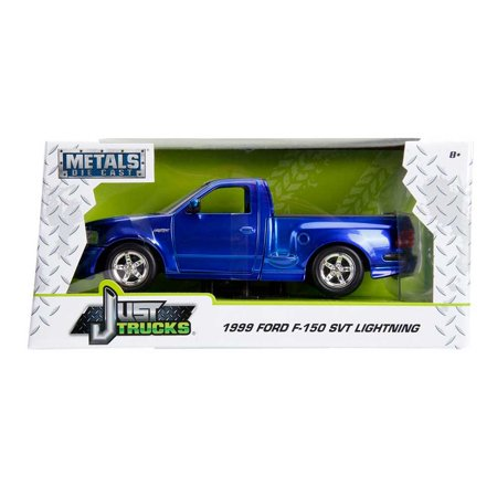 Just Truck Series: 1999 Ford F-150 SVT Lightning (Blue/White Stripes) 1/24 Scale ()