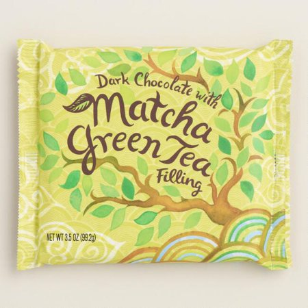 World Market Matcha Green Tea Dark Chocolate Bar (Pack of