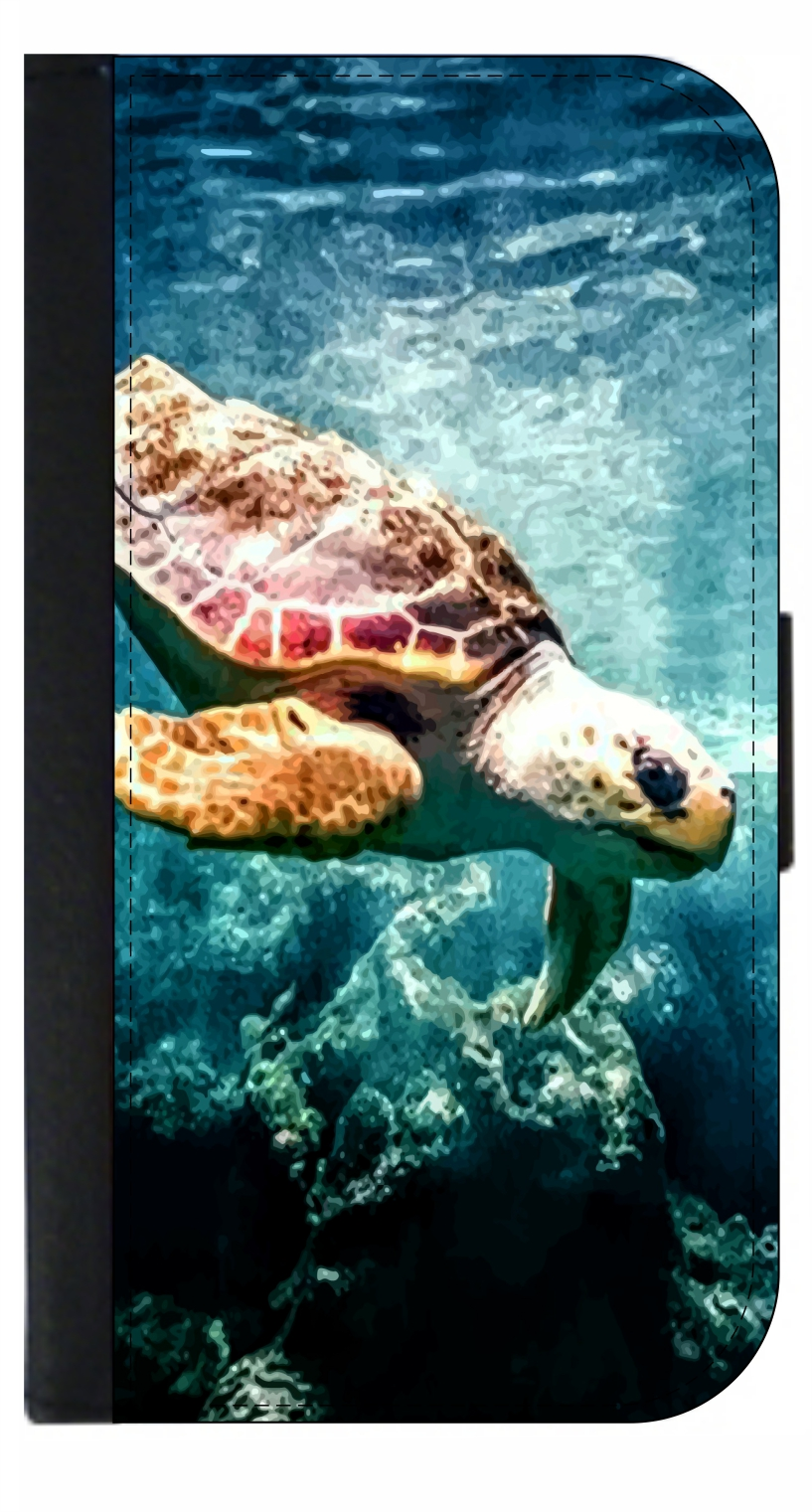 100% authentic 6393e 3d67b Under Sea Turtle - Wallet Style Cell Phone Case with 2 Card Slots and a  Flip Cover Compatible with the Apple iPhone 7 Plus and 8 Plus Universal
