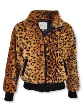 Urban Republic Girls' Faux Fur Flight Jacket