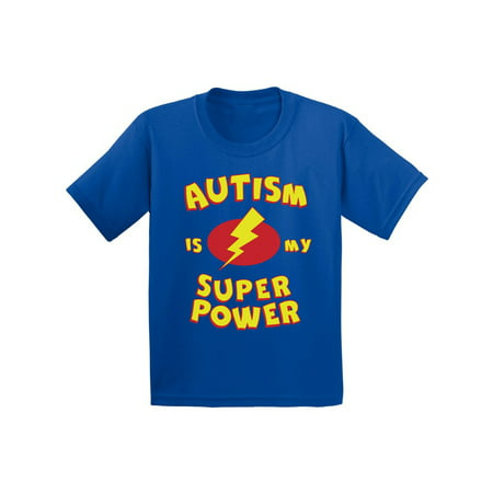 National Autism Awareness Month (Awkward Styles Youth Autism Is My Super Power Graphic Youth Kids T-shirt Tops Autism)