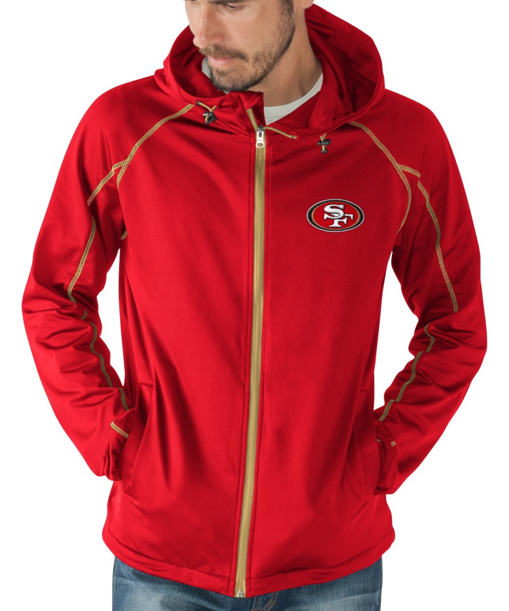 "San Francisco 49ers NFL G-III ""Resistance"" Full Zip Hooded Premium Men's Jacket by G-III Sports"