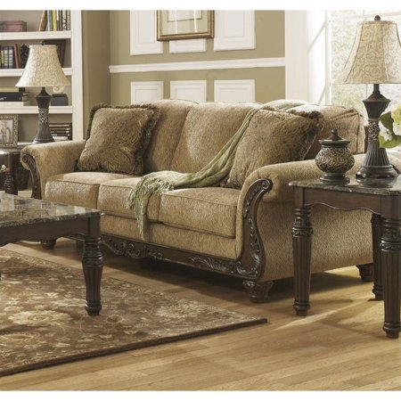Ashley Cambridge Fabric Sofa In Amber Walmart Com