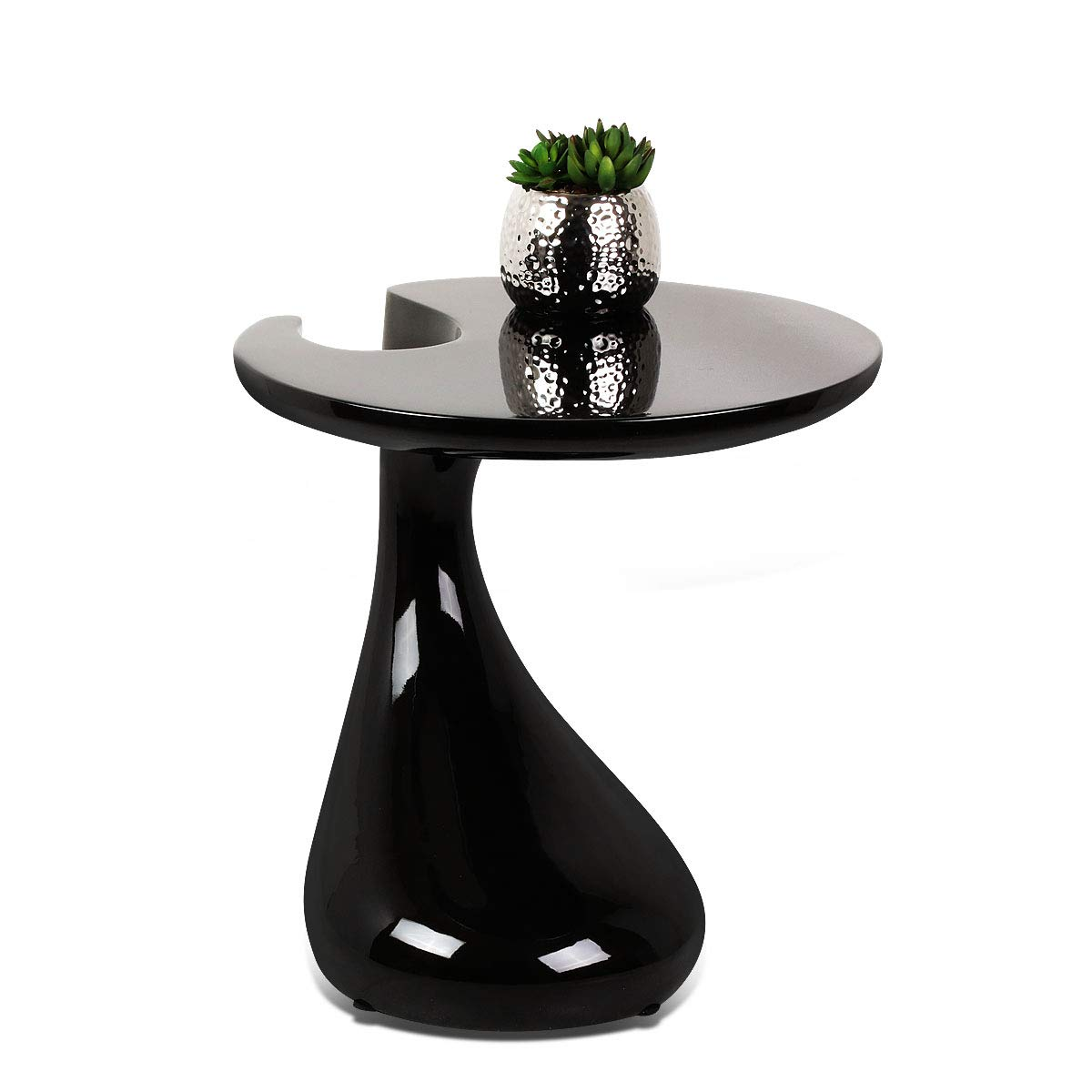 Magshion Modern Cocktail Table Chair Set For Living Room Patio Night Club  Bar Black, Table