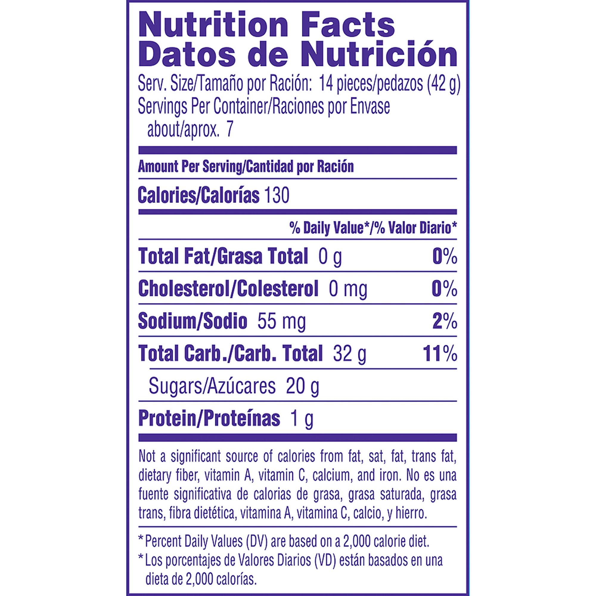 sweet tarts nutrition