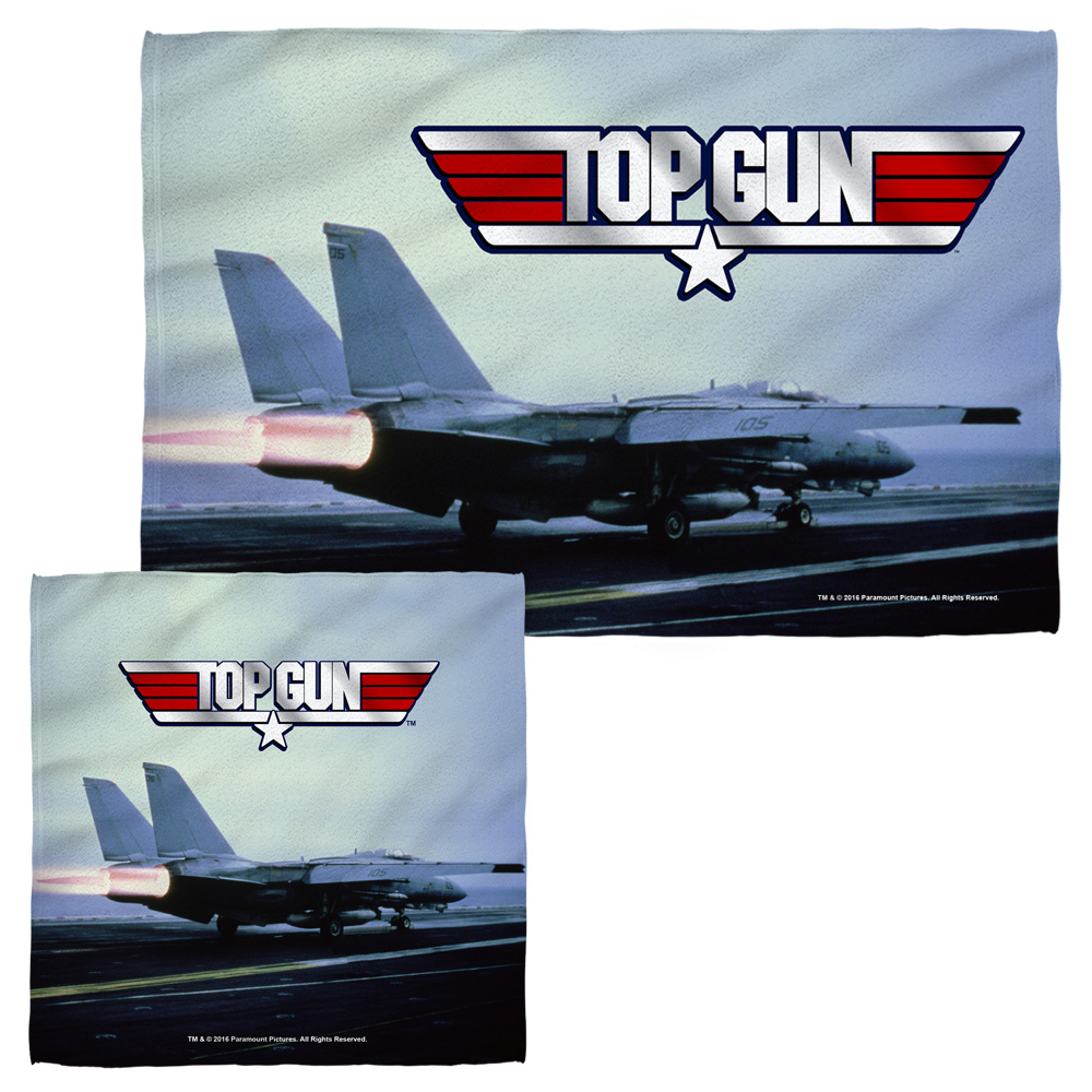 Top Gun Take Off Face Hand Towel Combo White