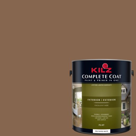 Caramel Nut, KILZ COMPLETE COAT Interior/Exterior Paint & Primer in One, #LC280-02 (Camel Paint)