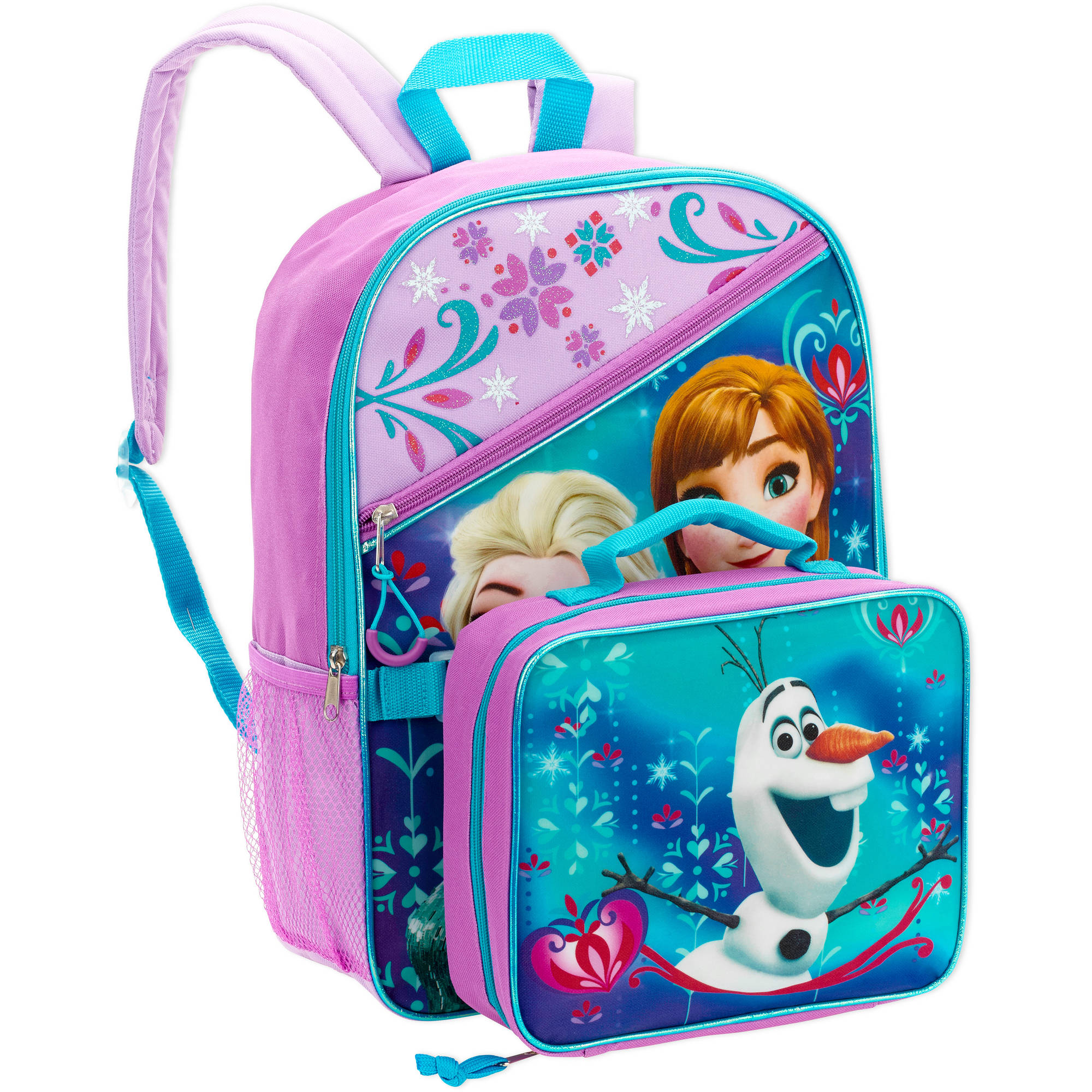 e45042c0e3d Disney - Frozen 16 Inch Full Size Backpack w  Detachable Lunch Bag -  Walmart.com