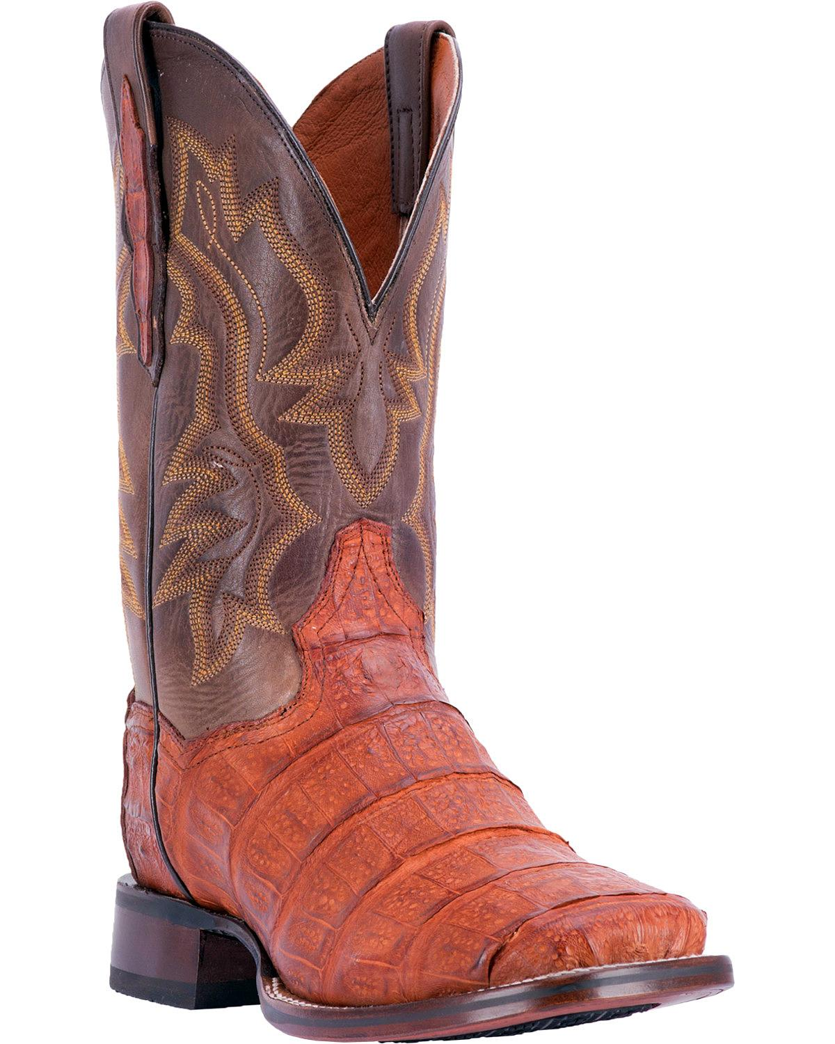 Dan Post Men's Bishop Caiman Tail Cowboy Certified Boot Square Toe Dp4536 by Dan Post