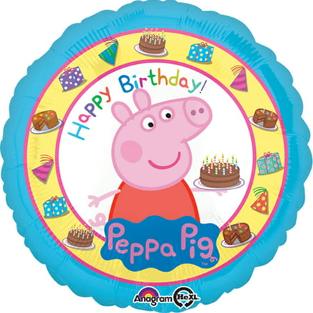 Peppa Pig Happy Birthday Authentic Licensed Theme Foil / Mylar Balloon 18