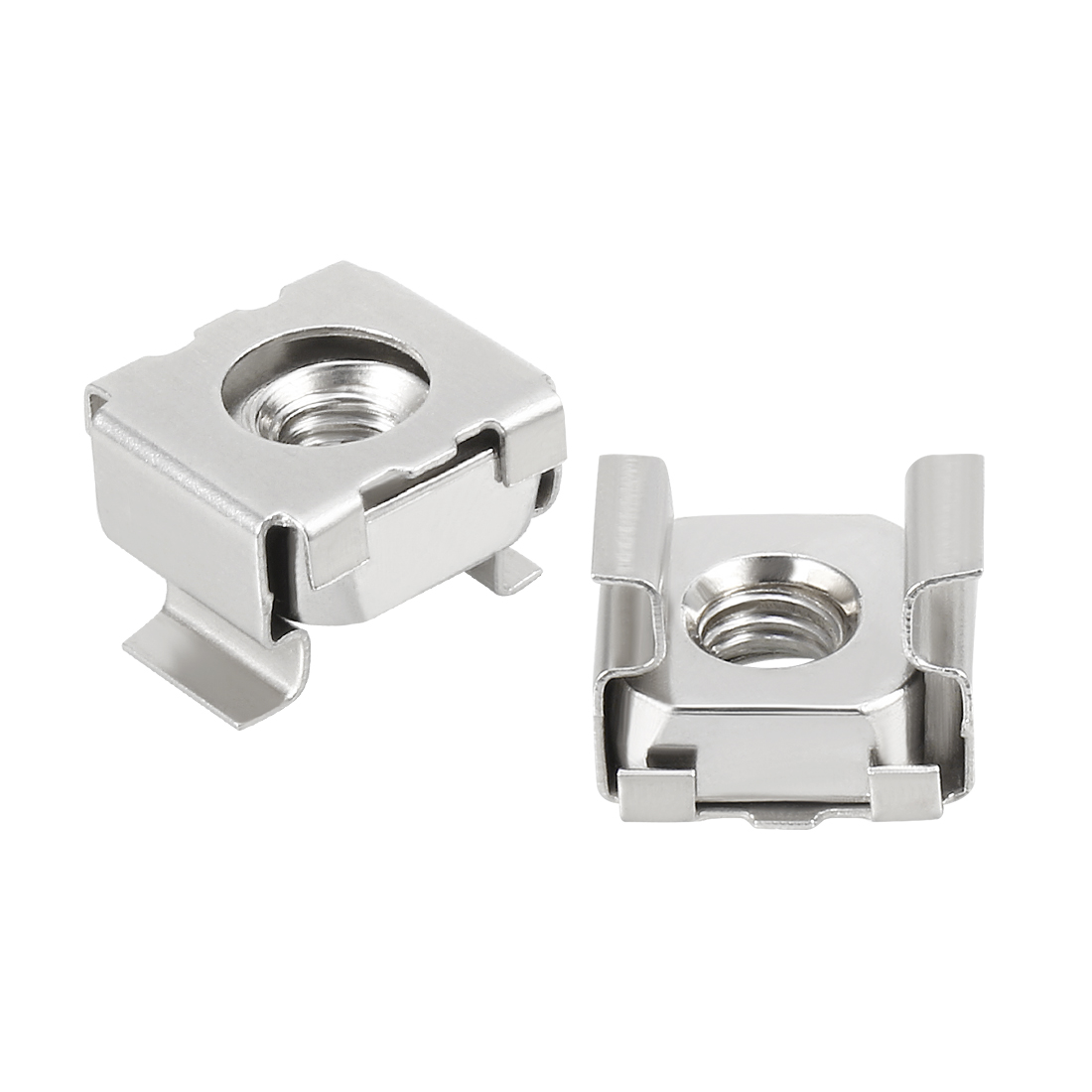 Unique Bargains 35pcs Carbon Steel Nickel Plated M4 Cage Nut for Server Shelf Cabinet - image 4 de 4