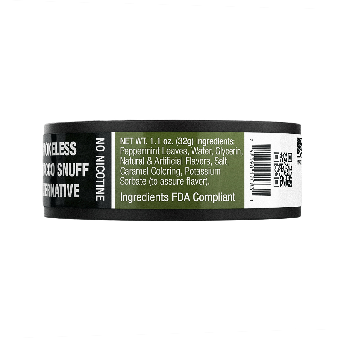 BaccOff, Original Wintergreen Rough Cut, Premium Tobacco Free, Nicotine  Free Snuff Alternative (1 Can)