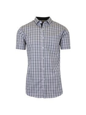 816243f564d Product Image Mens Short Sleeve Casual Dress Shirts Slim Fit Button Down