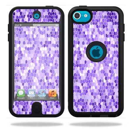 Mightyskins Protective Vinyl Skin Decal Cover for OtterBox Defender Apple iPod Touch 5G 5th Generation Case Stained (Stained Glass Apple)