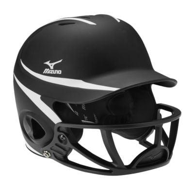 Mizuno Mvp Two Tone Polycarbonate Facemask Batting Helmet L Xl Black White