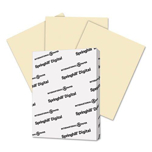 "Springhill Vellum Bristol Copy & Multipurpose Paper - For Laser, Inkjet Print - Letter - 8.50"" X 11"" - 67 Lb - Recycled - Vellum, Smooth - 250 / Pack - Ivory (056000)"