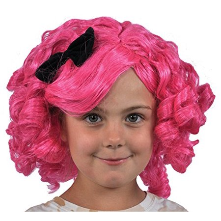 Blue and Gold Lalaloopsy Crumbs Sugar Wig Child Halloween Costume, One Size, - Sugar Crumbs Lalaloopsy