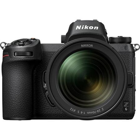 Nikon Z 6 24.5MP UHD 4K30 Mirrorless Digital Camera with 24-70mm Lens 1598