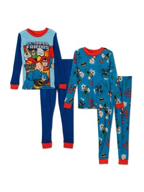 DC Comics Toddler Boys' Super Friends 4pc Cotton Sleep Set