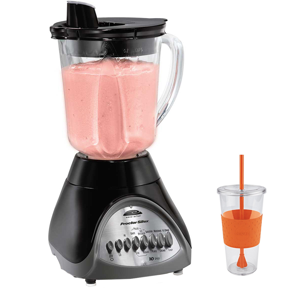 Proctor Silex Smooth Pour 10-Speed Blender with Copco Eco First Tumbler Togo Cup Mug