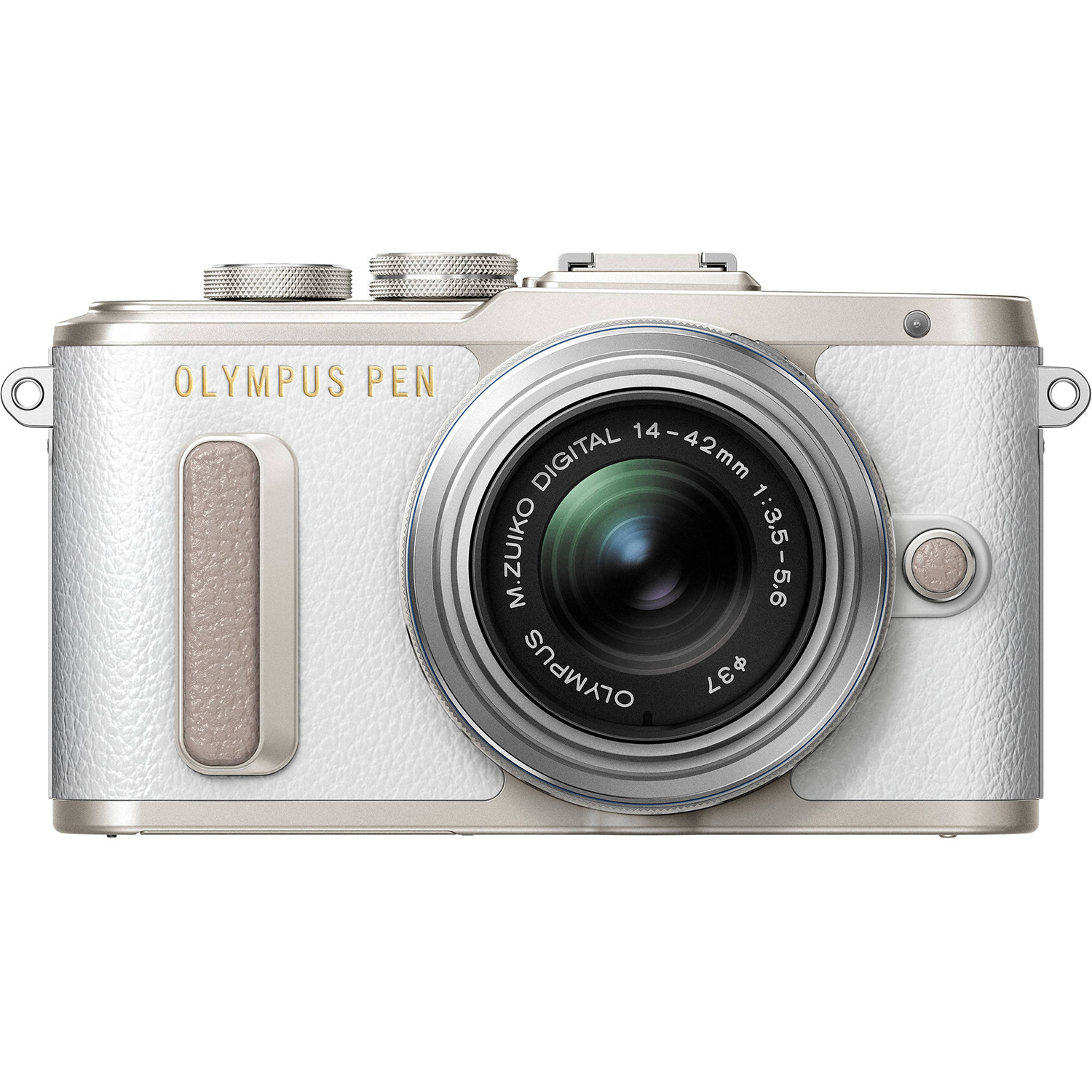 Olympus PEN E-PL8 16.1 Megapixel Camera with Lens, White by Olympus