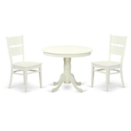 East West Furniture 3 Piece Modern Mission Kitchen Dinette Dining Table Set ()