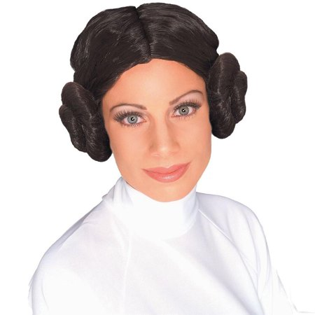 Star Wars Princess Leia Women's Costume Wig w/ Hair Buns