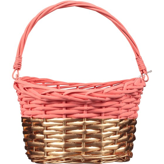Coral gold willow easter basket walmart coral gold willow easter basket negle Images