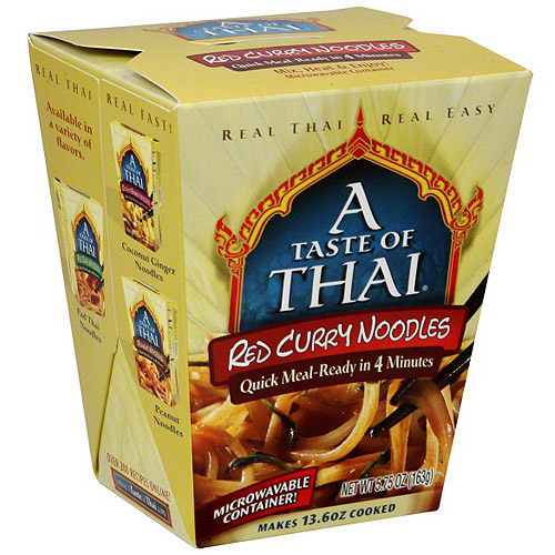 A Taste of Thai: 5.75 Oz Red Curry Noodles, 6 Pk, (Pack of 6)