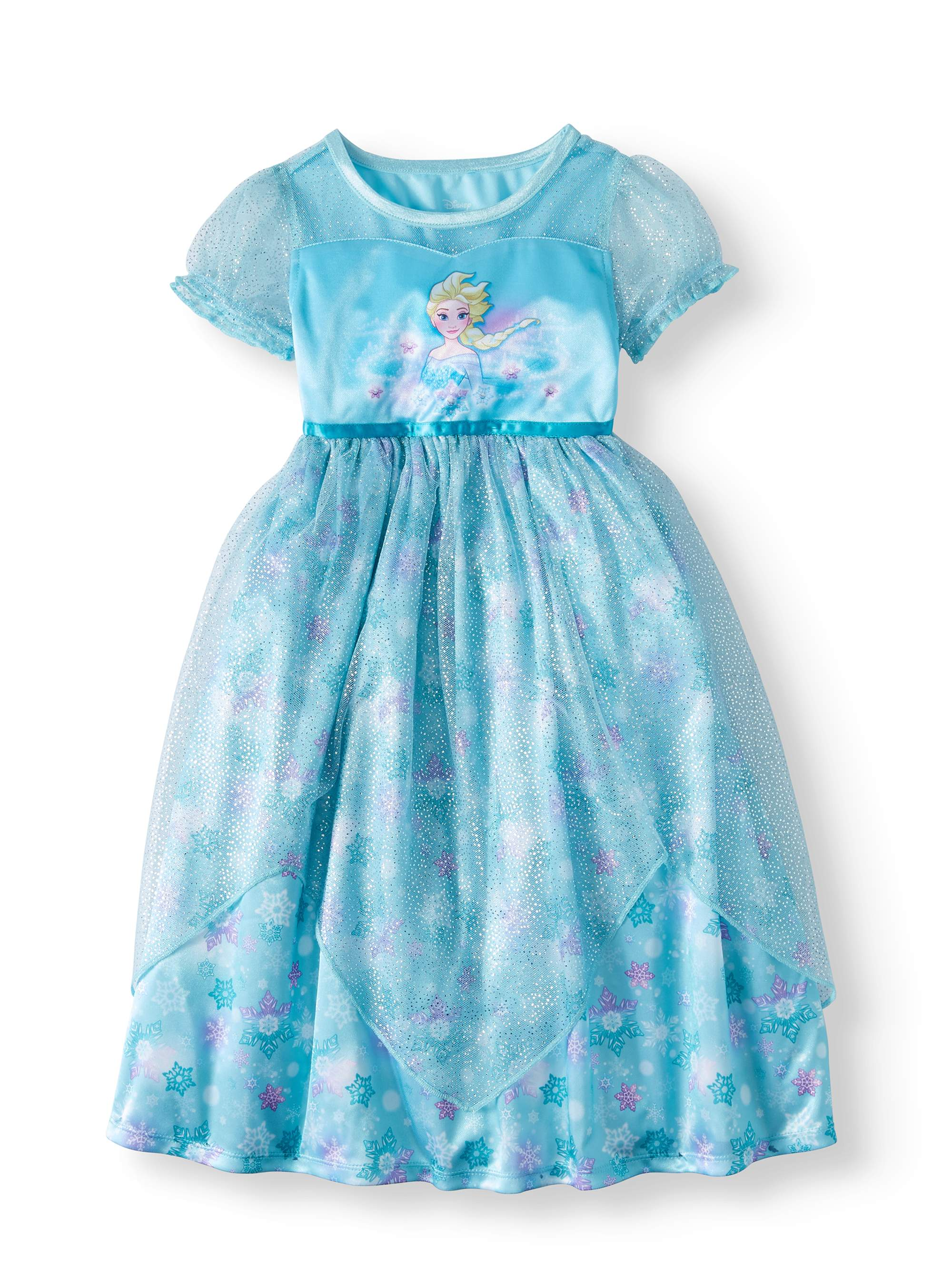 Frozen Elsa Short Sleeve Fantasy Nightgown (Toddler Girls)