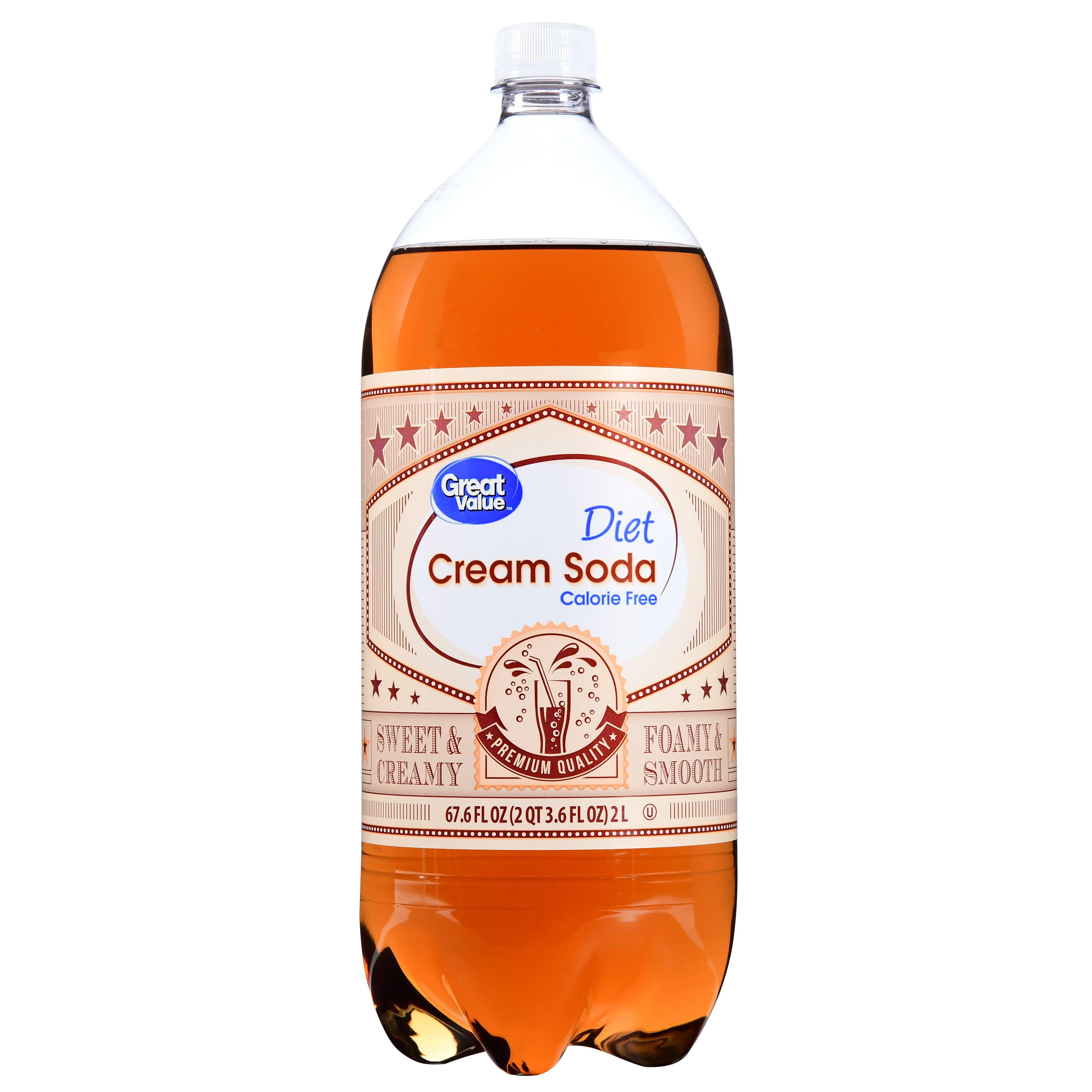 Great Value Diet Cream Soda, 2 L, 1 Count - Walmart.com