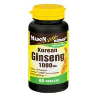Mason Natural Korean Ginseng 1000 MG - 60 CT