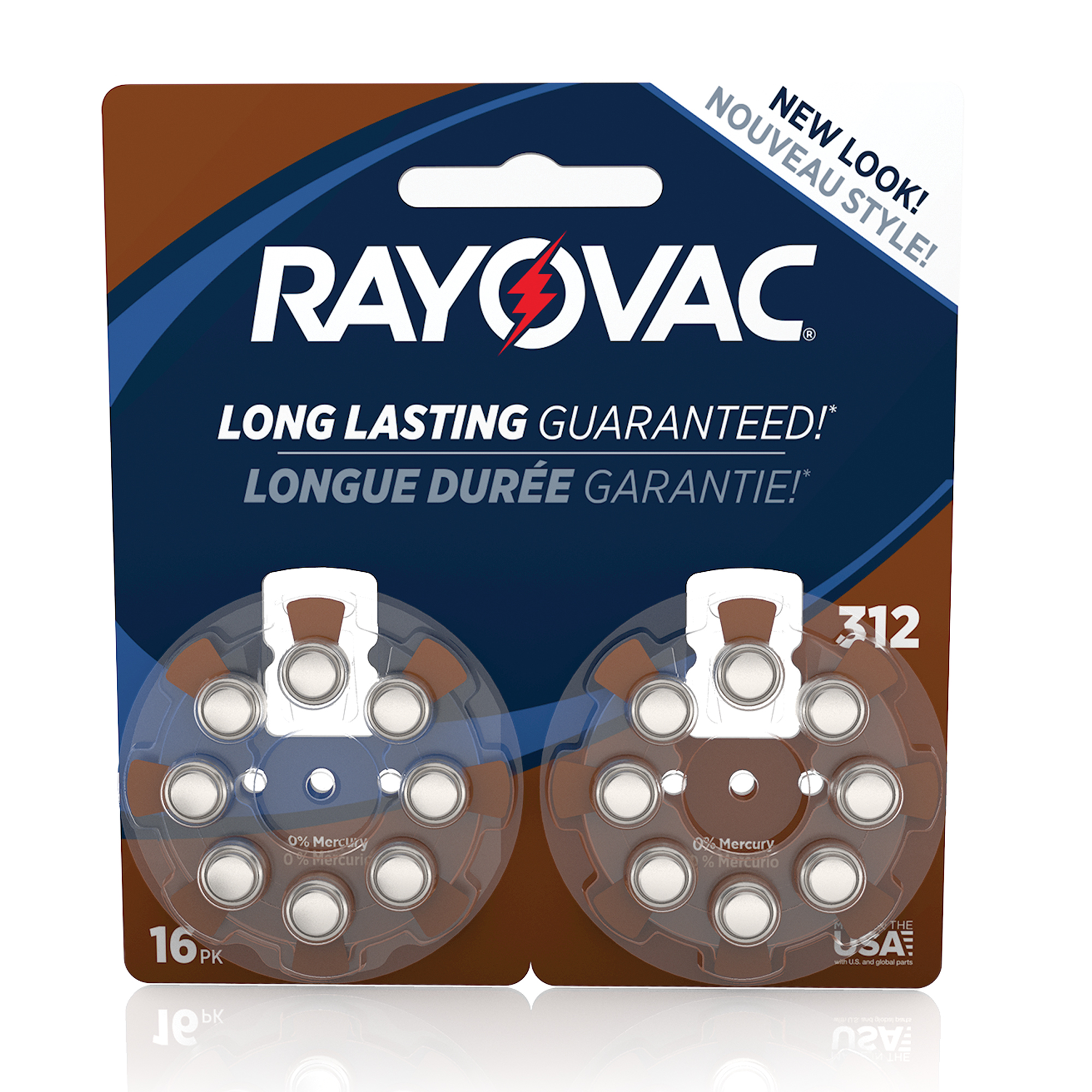 Rayovac Size 312 Hearing Aid Batteries, 16-Pack L312ZA-16ZMB