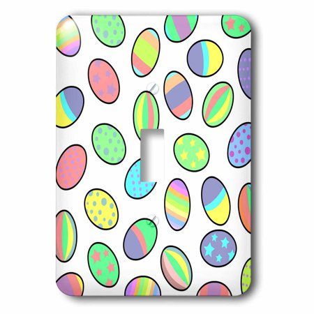3dRose Pastel Egg Print Single Toggle Switch lsp 10840 1