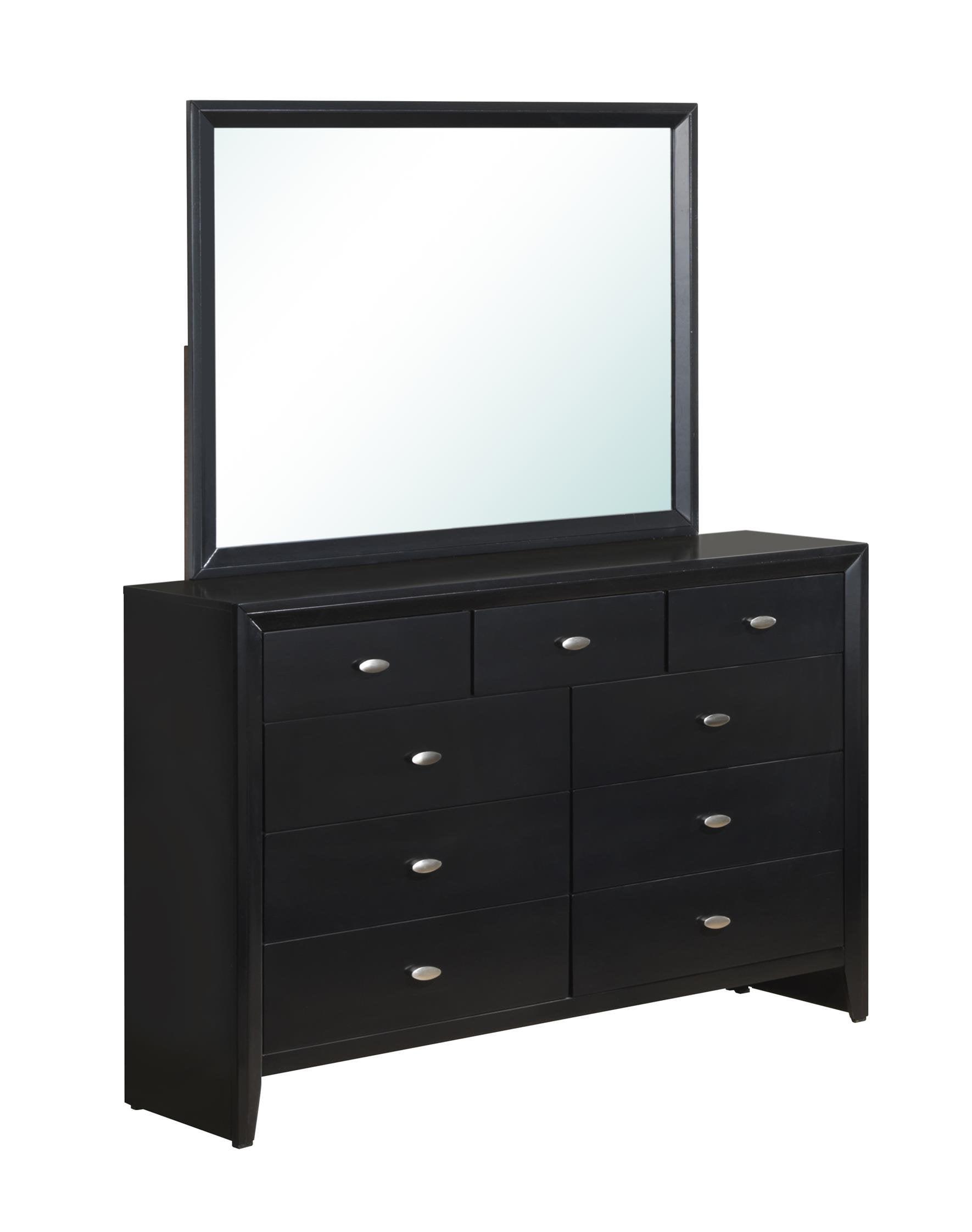 Global Carolina Mirror Black 7089 by Supplier Generic