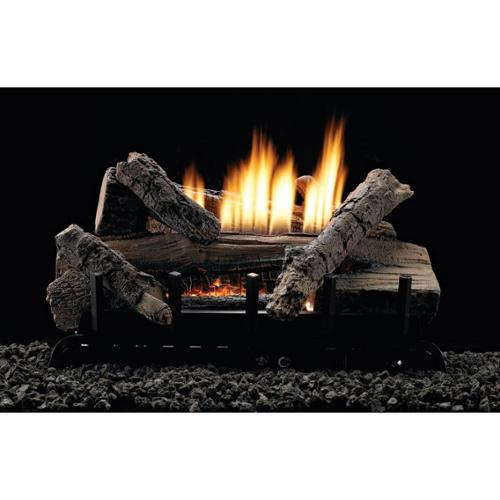 """Thermostat 7-piece 30"""" Refractory Log Set - Natural Gas"""