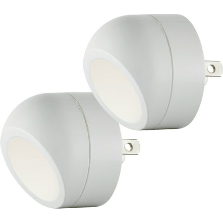 Energizer Automatic LED Night Lights, 2-Pack, 360° Rotation, 40293
