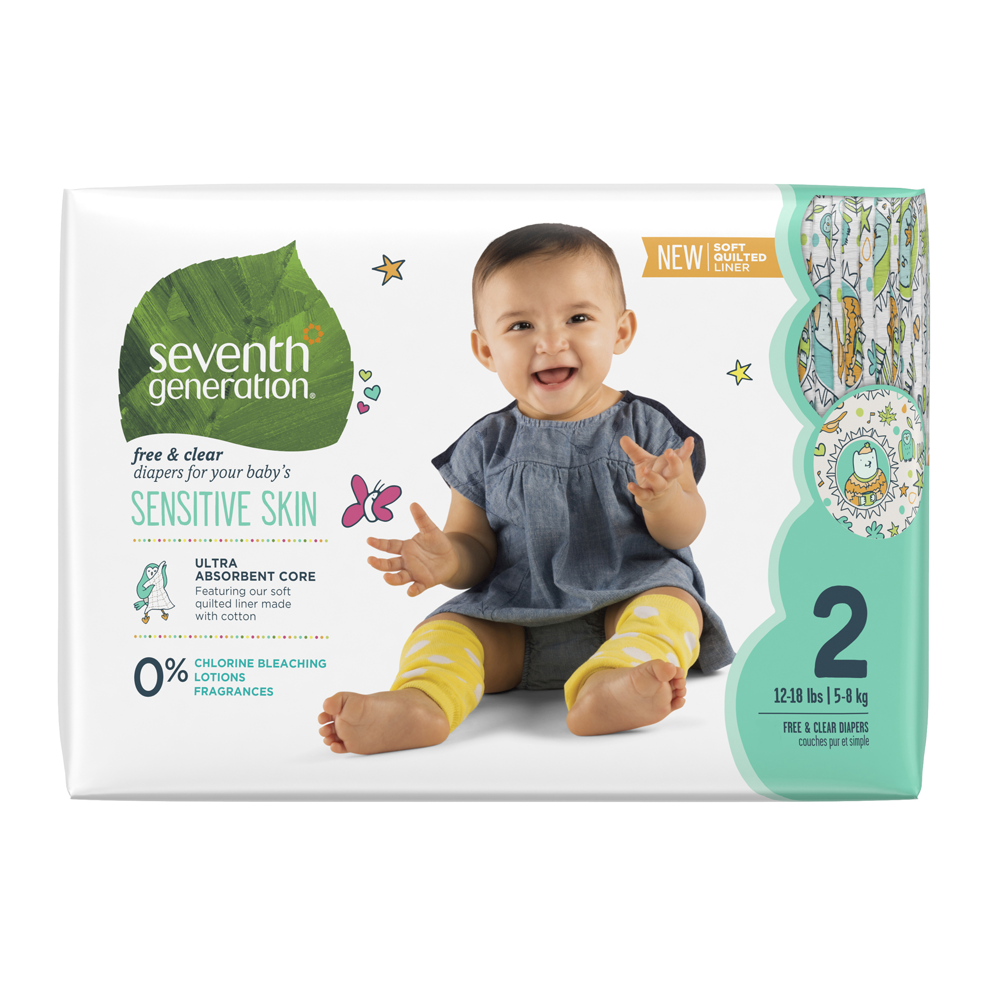 Seventh Generation Diapers Size 2, 1 pack of 36 (36 ct)