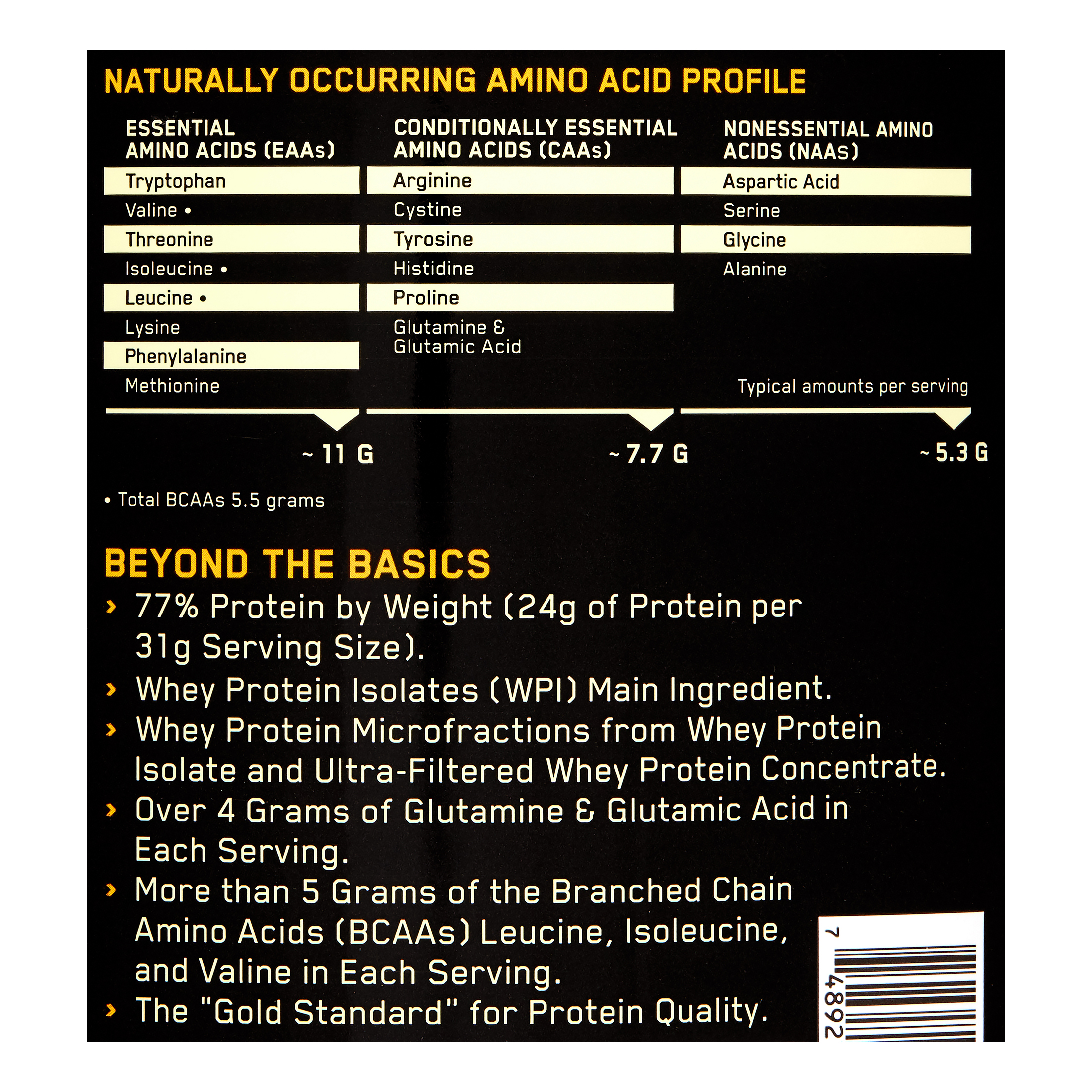 Optimum Nutrition Gold Standard 100% Whey Protein Powder, French Vanilla Creme, 24g Protein, 5 Lb - Walmart.com