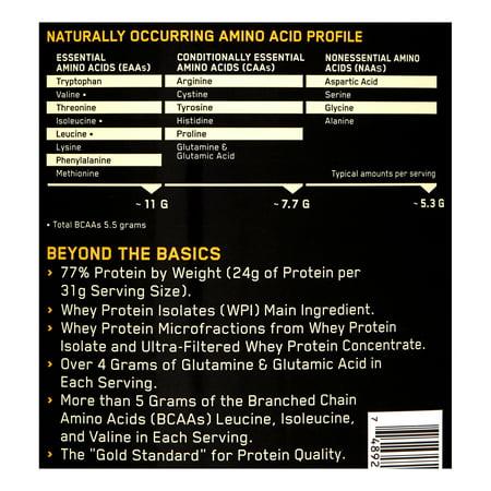 Best Optimum Nutrition Gold Standard 100% Whey Protein Powder, French Vanilla Creme, 24g Protein, 5 Lb deal