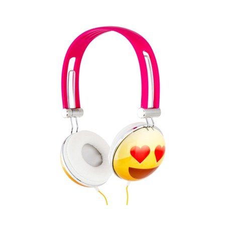 Overhead Stereo Headphone (Emoji Overhead Stereo Headphones, Heart Eyes )