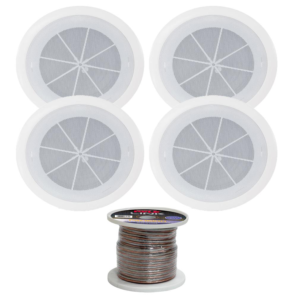 Pyle Pdics6 6 5 Inch In Ceiling Enclosure Speakers With 16 Gauge 100