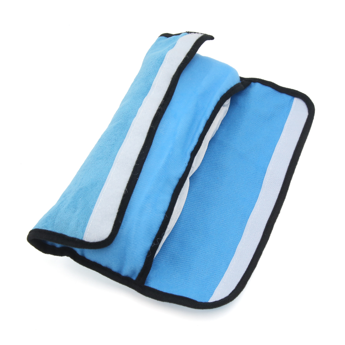 Car Seat Belt Pillow with Adjustable Shoulder Pad Child Sleep Gift Blue Grey