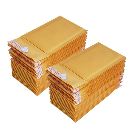 iMBAPrice #000 4 X 8 Kraft Bubble Mailers Padded Envelopes, Total 50 Envelope