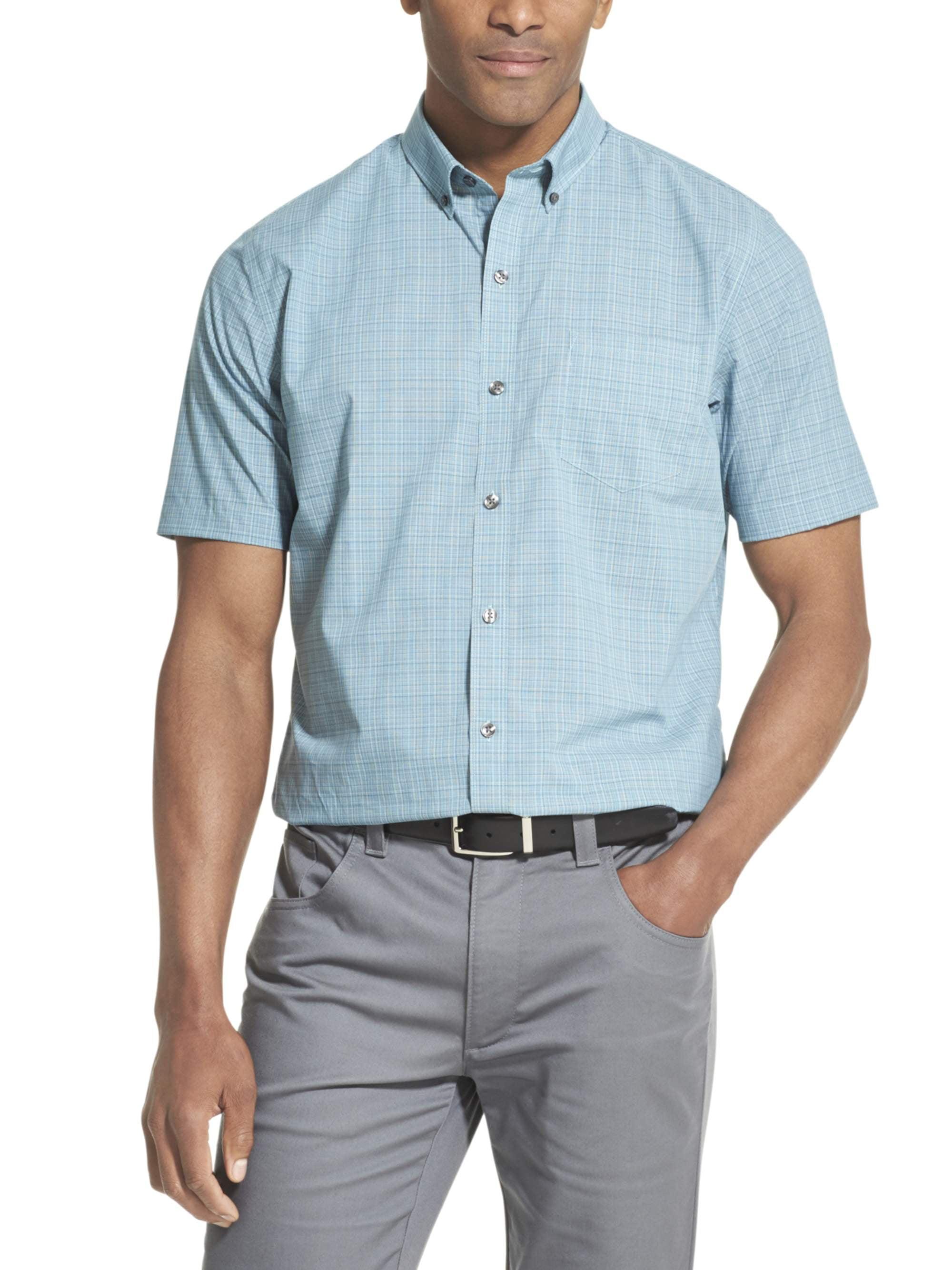Comaba Mens Peaked Lapel Plus-Size Casual Stripes Printed Long-Sleeve Denim Shirt