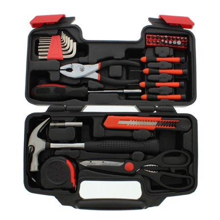 - ABN 39 Piece General Household Hand Tool Kit Starter Set in Plastic Storage Case