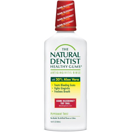 The Healthy Gums Antigingivitis Mouthwash to Prevent and Treat Bleeding Gums and Fight the Gum Disease Gingivitis - Peppermint Twist flavor, The Natural Dentist.., By Natural